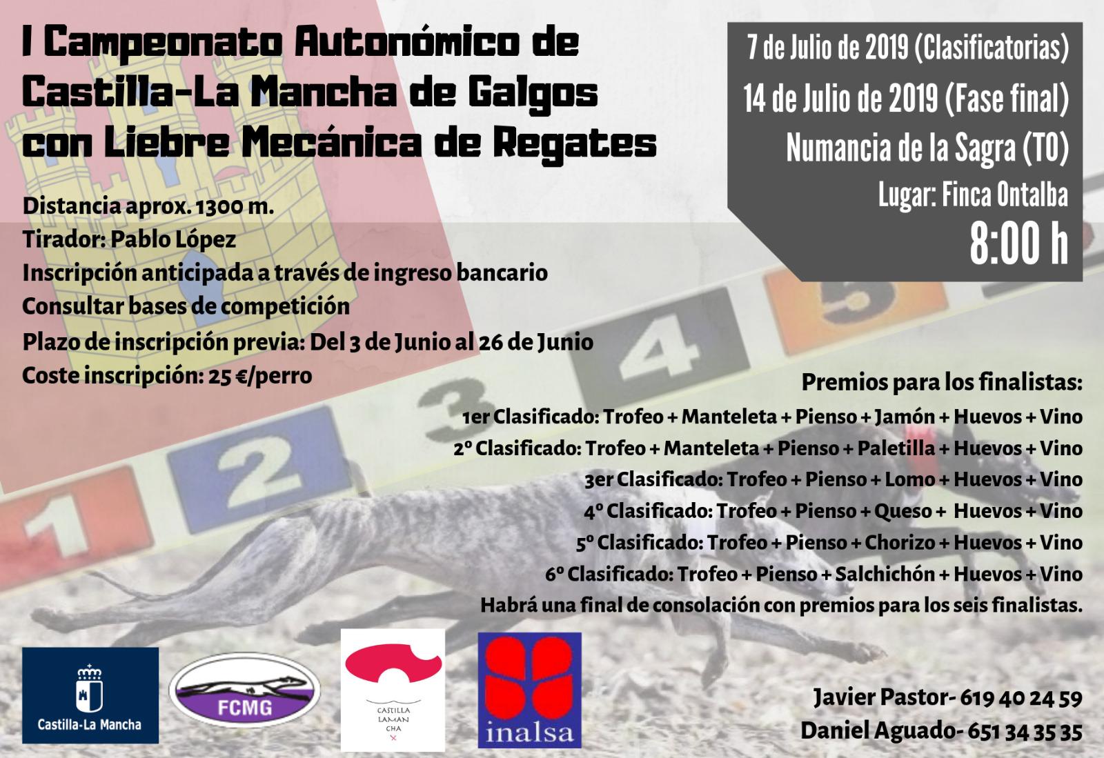 I Campeonato de Castilla-La Mancha de Galgos con Liebre Mecánica de Regates