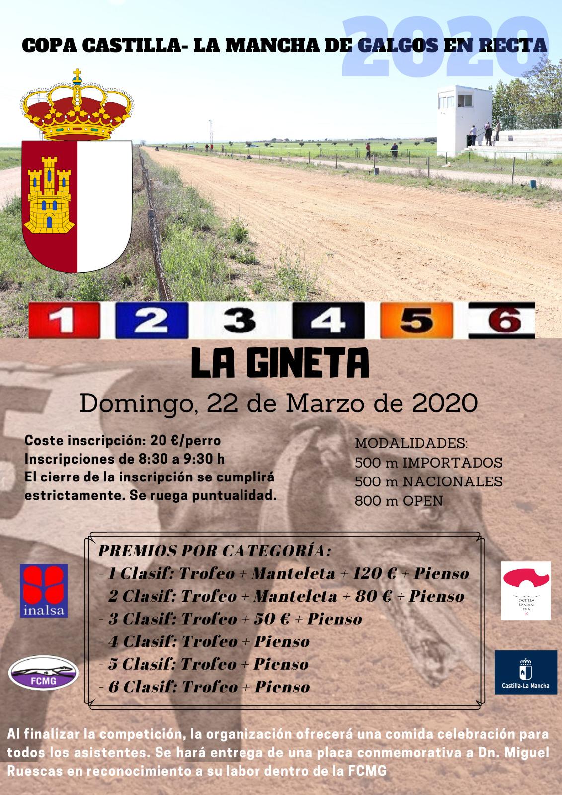 Copa de Castilla-La Mancha de Galgos en Recta