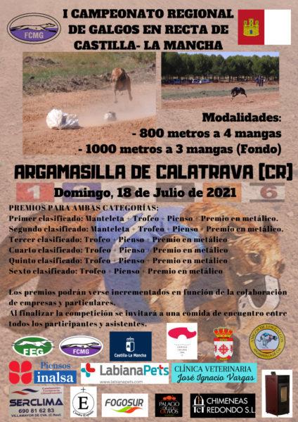Cartel Campeonato Recta Argamasilla 2021
