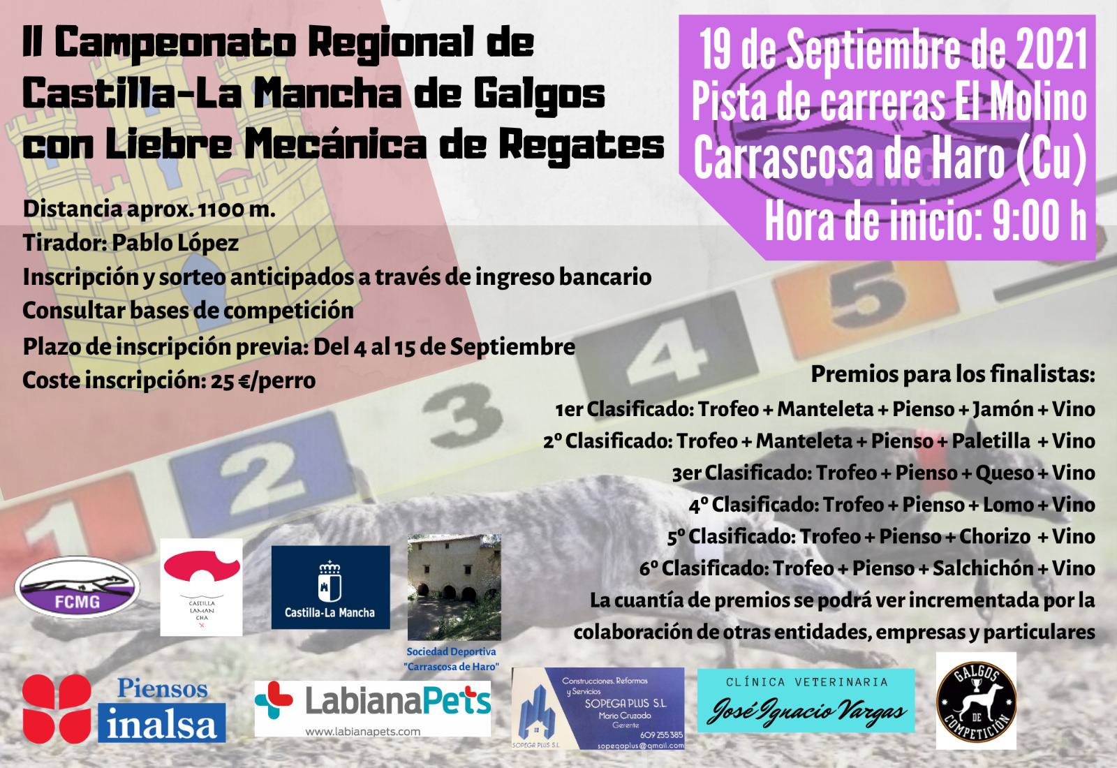 Campeonato regional de liebre mecánica de regates